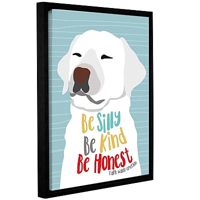 Varick Gallery 'Be Silly Kind And Honest' Framed Graphic Art Print On Wrapped Canvas