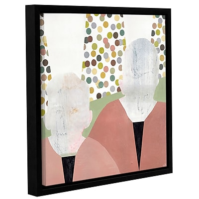 Varick Gallery 'Twins' Framed Painting Print On Wrapped Canvas; 14'' H x 14'' W x 2'' D