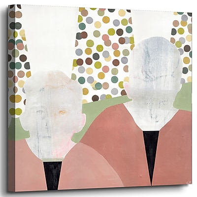 Varick Gallery 'Twins' Print on Wrapped Canvas; 36'' H x 36'' W x 2'' D