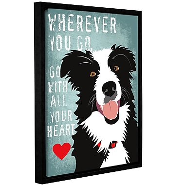 Varick Gallery 'Go w/ All Your Heart' Framed Graphic Art Print On Wrapped Canvas
