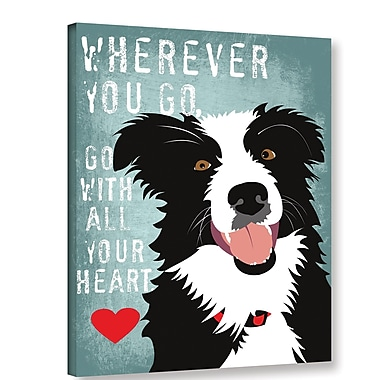 Varick Gallery 'Go w/ All Your Heart' Graphic Art Print On Wrapped Canvas; 24'' H x 18'' W x 2'' D