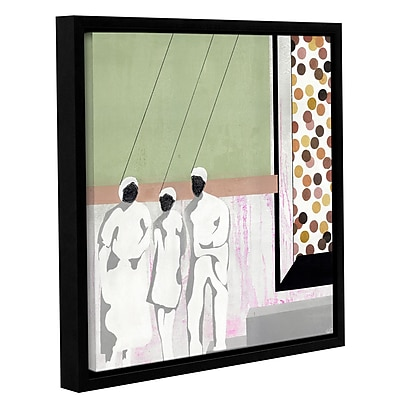 Varick Gallery 'I'M Hung Up' Framed Painting Print On Wrapped Canvas; 18'' H x 18'' W x 2'' D