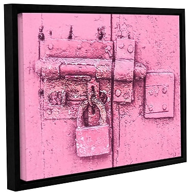 Varick Gallery 'Pink Antique Padlock' Framed Painting Print On Canvas; 8'' H x 10'' W x 2'' D