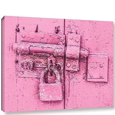 Varick Gallery 'Pink Antique Padlock' Painting Print On Wrapped Canvas; 8'' H x 10'' W x 2'' D