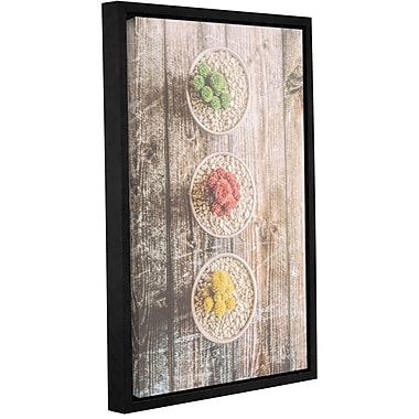 Varick Gallery 'Bowls Of Flowered Stone' Framed Graphic Art Print On Canvas; 12'' H x 8'' W x 2'' D