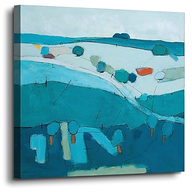 Varick Gallery 'Blue Hills' Painting Print On Wrapped Canvas; 14'' H x 14'' W x 2'' D
