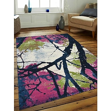 Varick Gallery Chung Pink/Blue Area Rug; 3'4'' x 5'
