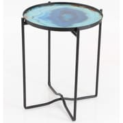 Varick Gallery Cirillo Sturdy Iron Glass End Table