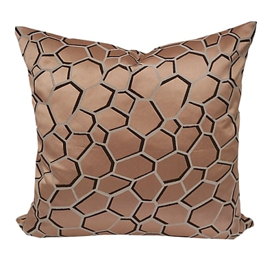 Varick Gallery Chancy Modern Geometric Throw Pillow; Copper