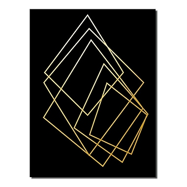 Varick Gallery 'Gilt Mod I-B' Graphic Art Print; 30'' H x 20'' W x 1'' D