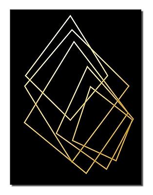 Varick Gallery 'Gilt Mod I-B' Graphic Art Print; 16'' H x 12'' W x 1'' D
