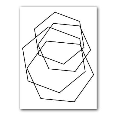 Varick Gallery 'Gilt Mod III-W' Graphic Art Print; 16'' H x 12'' W x 1'' D