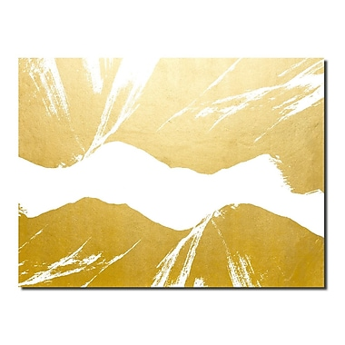 Varick Gallery 'Gilt Mod VI-W' Painting Print; 30'' H x 40'' W x 1'' D