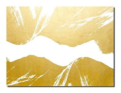 Varick Gallery 'Gilt Mod VI-W' Painting Print; 20'' H x 30'' W x 1'' D
