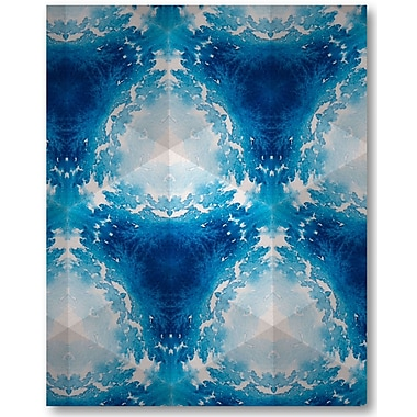 Varick Gallery 'Sapphire Frost III' Graphic Art Print on Wrapped Canvas