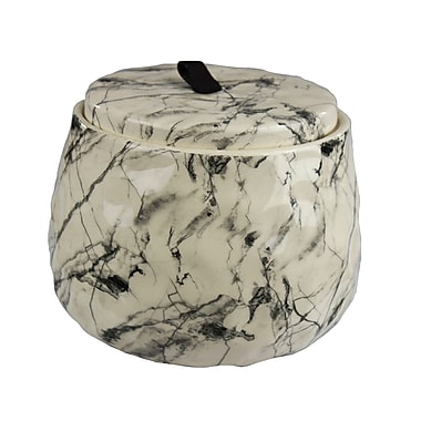 Varick Gallery Ceramic Covered Storage Jar; 5.5'' H x 6.5'' W x 6.5'' D