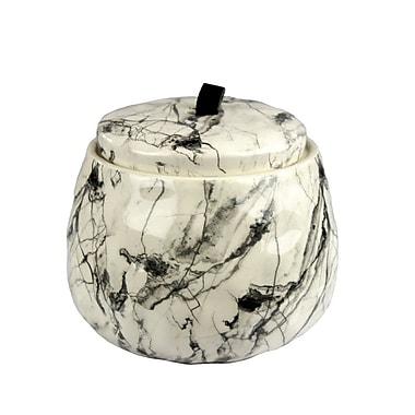 Varick Gallery Ceramic Covered Storage Jar; 4.75'' H x 5.25'' W x 5.25'' D