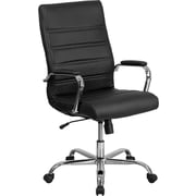 Varick Gallery Hero High Back Leather Executive Chair; Black
