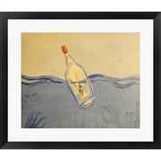 Varick Gallery 'Message in a Bottle' Framed Acrylic Painting Print on Paper