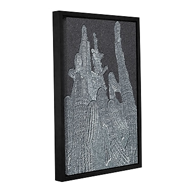 Varick Gallery 'Saguaro Grey' Framed Graphic Art Print on Canvas; 36'' H x 24'' W x 2'' D