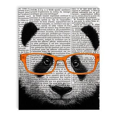 Varick Gallery 'Panda' Graphic Art Print on Canvas; 36'' H x 24'' W x 2'' D