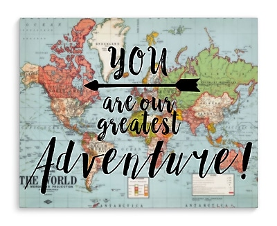 Varick Gallery 'You Are Our Greatest Adventure' Graphic Art Print on Canvas; 8'' H x 10'' W x 2'' D