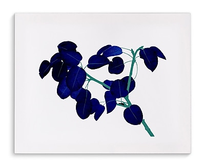Varick Gallery 'Blue Leaves' Painting Print on Canvas; 24'' H x 36'' W x 2'' D