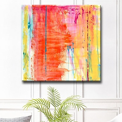 Varick Gallery 'Translucent Color' Oil Painting Print on Canvas; 16'' H x 16'' W x 1.5'' D