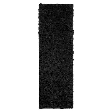 Varick Gallery Bonney Black Area Rug; Runner 4' x 10'
