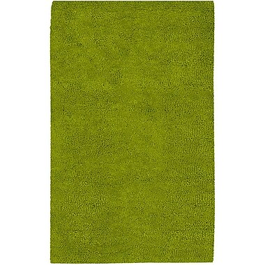 Varick Gallery Bonney Lime Green Area Rug; Round 8'