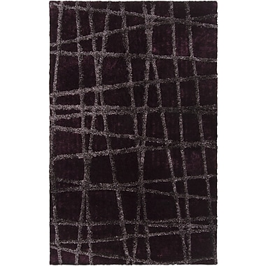 Varick Gallery Halterman Wine/Raisin Geometric Area Rug; 3'6'' x 5'6''