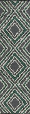 Varick Gallery Halycon Winter White/Emerald Green Area Rug; 8' x 11'