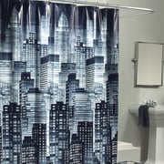 Varick Gallery Hedy Skyline 100pct PEVA Shower Curtain