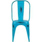 Varick Gallery Heffron Side Chair; Teal