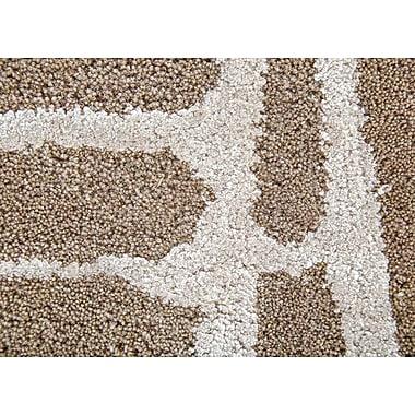 Varick Gallery Heinrich Hand-Tufted Brown/Silver Area Rug; 9' x 12'
