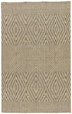 Varick Gallery Helman Hand-Woven Tan/Gray Area Rug; 9' x 12'