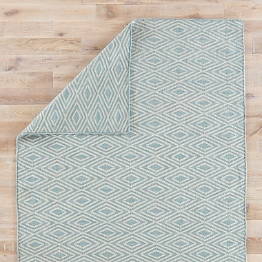 Varick Gallery Heise Blue/Beige Indoor/Outdoor Area Rug; 5' x 8'