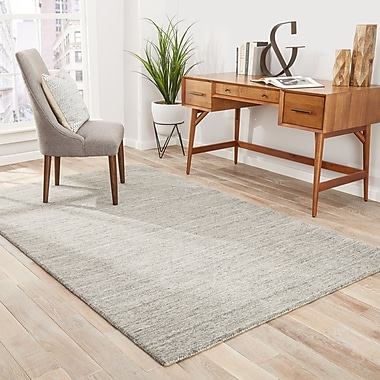 Varick Gallery Helen Hand-Woven Gray/Taupe Area Rug; 5' x 8'
