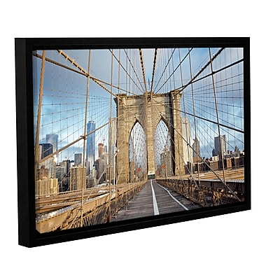 Varick Gallery 'Brooklyn Bridge 2' Framed Photographic Print on Canvas; 8'' H x 12'' W x 2'' D