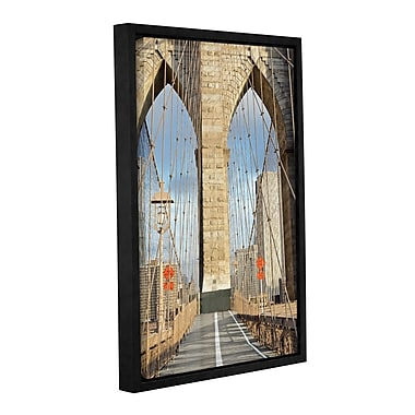 Varick Gallery 'Brooklyn Bridge 3' Framed Photographic Print on Canvas; 24'' H x 16'' W x 2'' D
