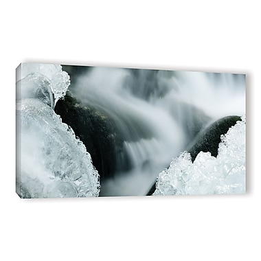 Varick Gallery 'Ice Panoramic' Graphic Art Print on Canvas; 24'' H x 48'' W x 2'' D