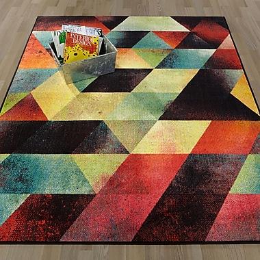 Varick Gallery Heier Blue/Orange/Pink Area Rug; Runner 2'3'' x 6'