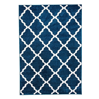 Varick Gallery Madison Avenue Blue Area Rug; 7'10'' x 9'10''