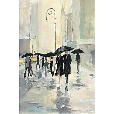 Varick Gallery 'City in The Rain' Painting Print on Wrapped Canvas; 18'' H x 12'' W x 0.75'' D