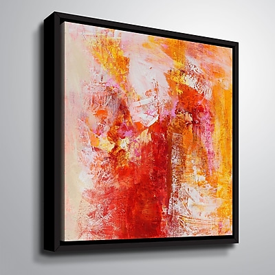 Varick Gallery 'Ethereal Sugar II' Framed Graphic Art Print on Canvas; 10'' H x 10'' W x 2'' D