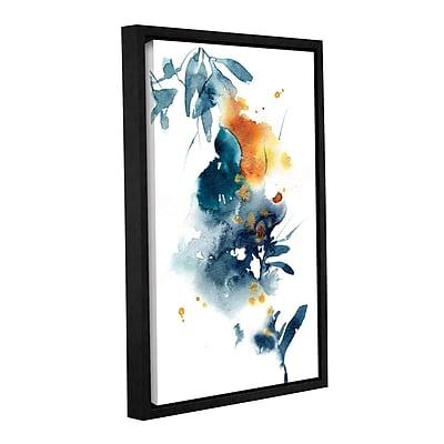 Varick Gallery 'Midnight Blue and Orange' Framed Print on Canvas; 48'' H x 32'' W x 2'' D