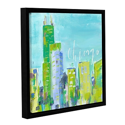 Varick Gallery 'Chicago' Framed Print on Canvas; 14'' H x 14'' W x 2'' D