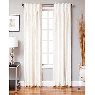 Varick Gallery Keffer Solid Sheer Rod pocket Single Curtain Panels; 30'' W x 95'' L