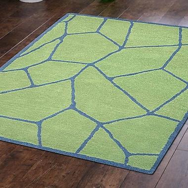 Varick Gallery Arius Hand-Tufted Wool Green Area Rug; 5' x 8'