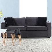 Varick Gallery Arjun Modern Velvet Fabric Sofa; Gray